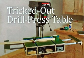 Drill Press Table Plans Woodarchivist