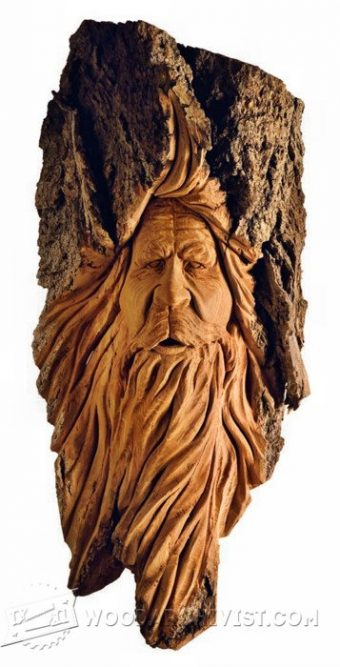 3482-Wood Spirit Carving