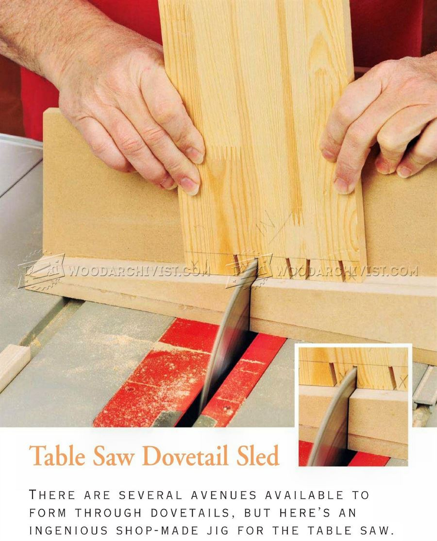Table Saw Dovetail Sled