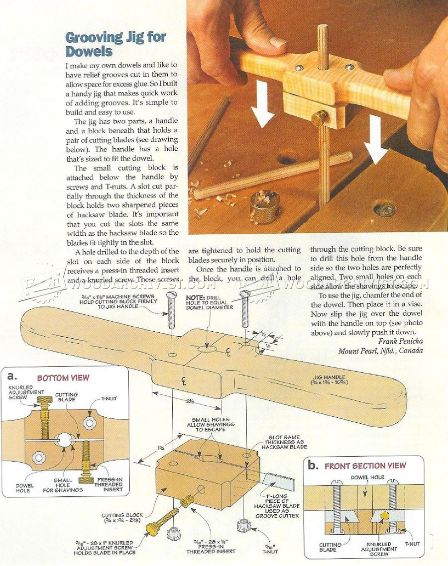 Grooving Jig for Dowels