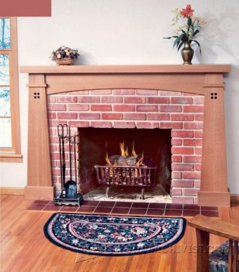 3487-Fireplace Mantel Plans