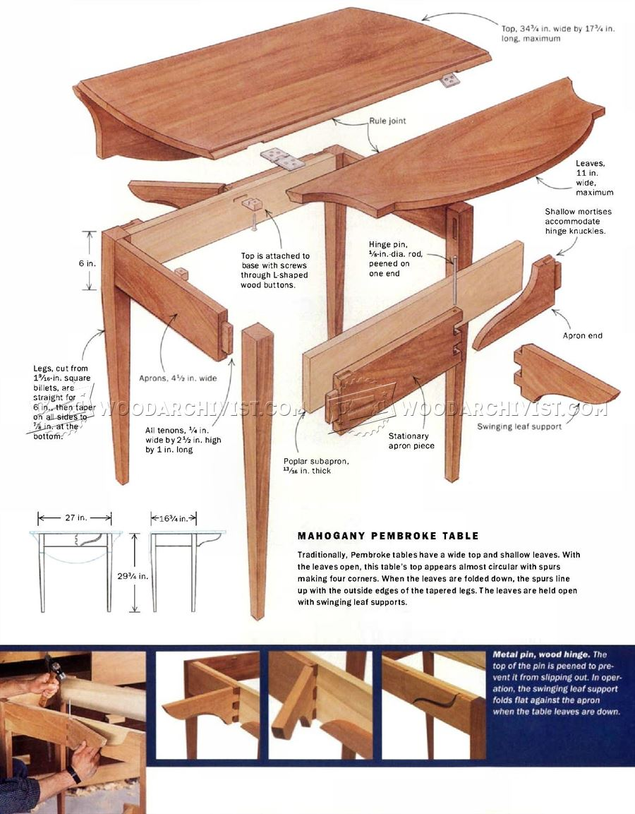 Pembroke Table Plans