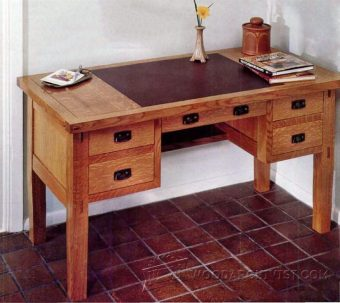 3500-Arts and Crafts Desk Plans