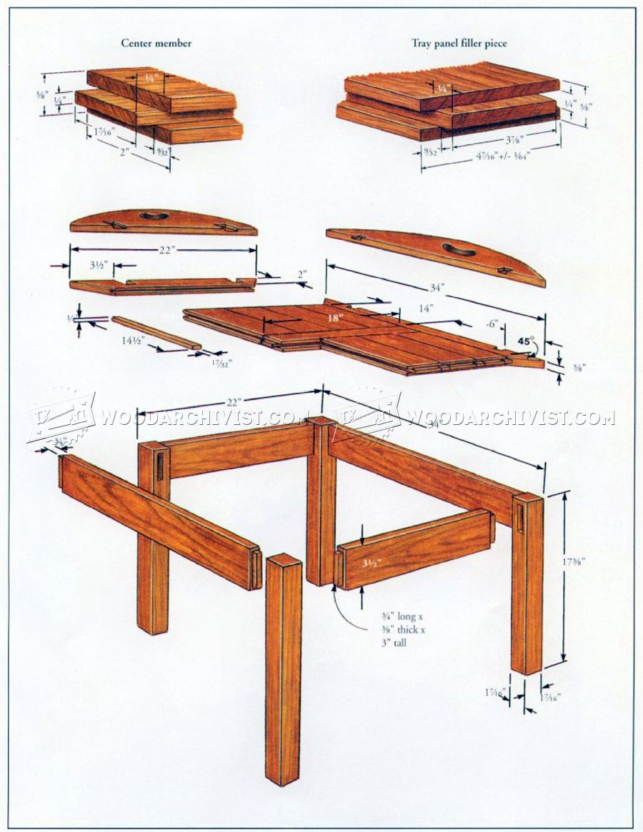 Butler Tray Table Plans - Furniture Plans