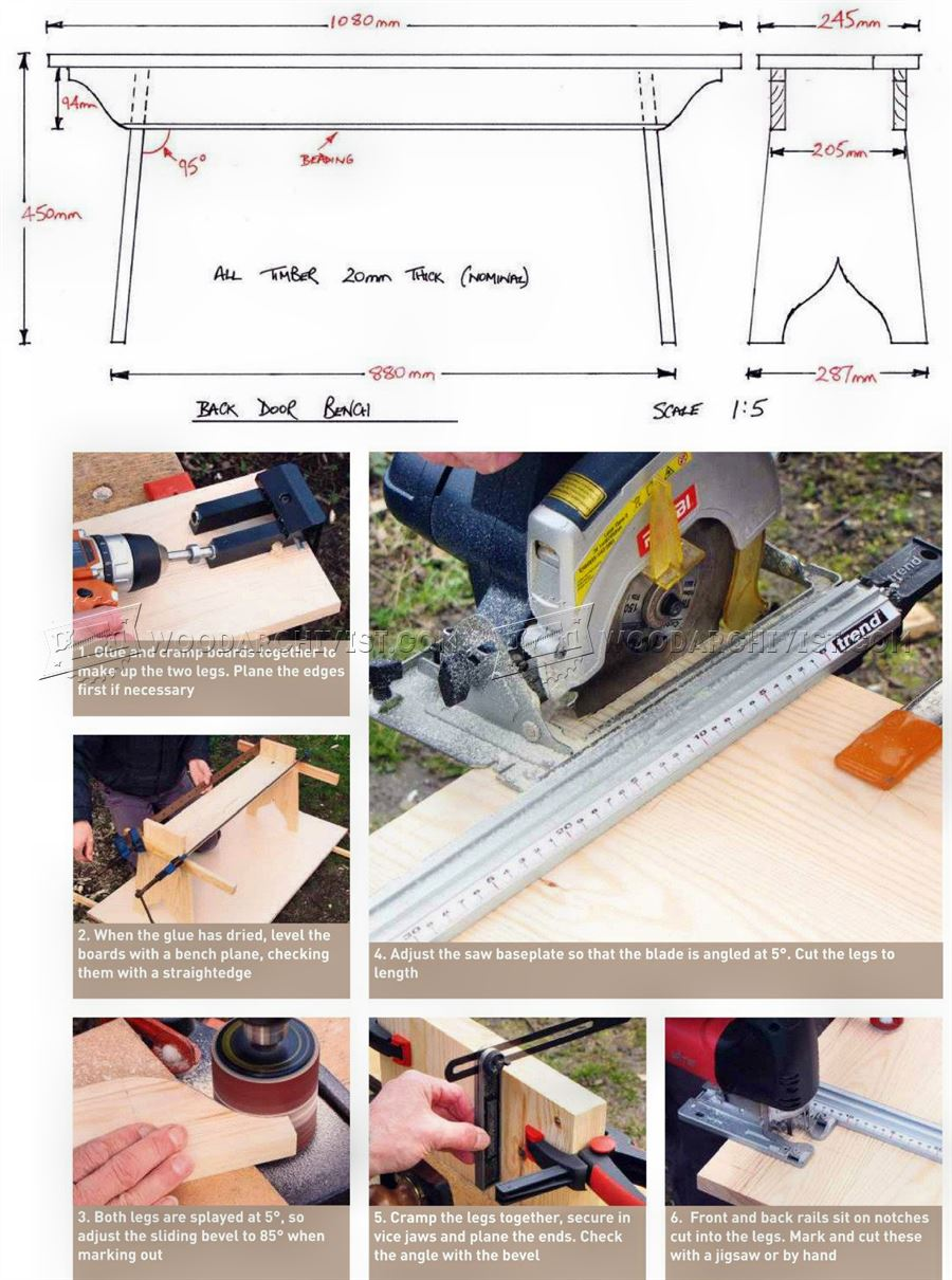Shaker Style Bench Seat Plans