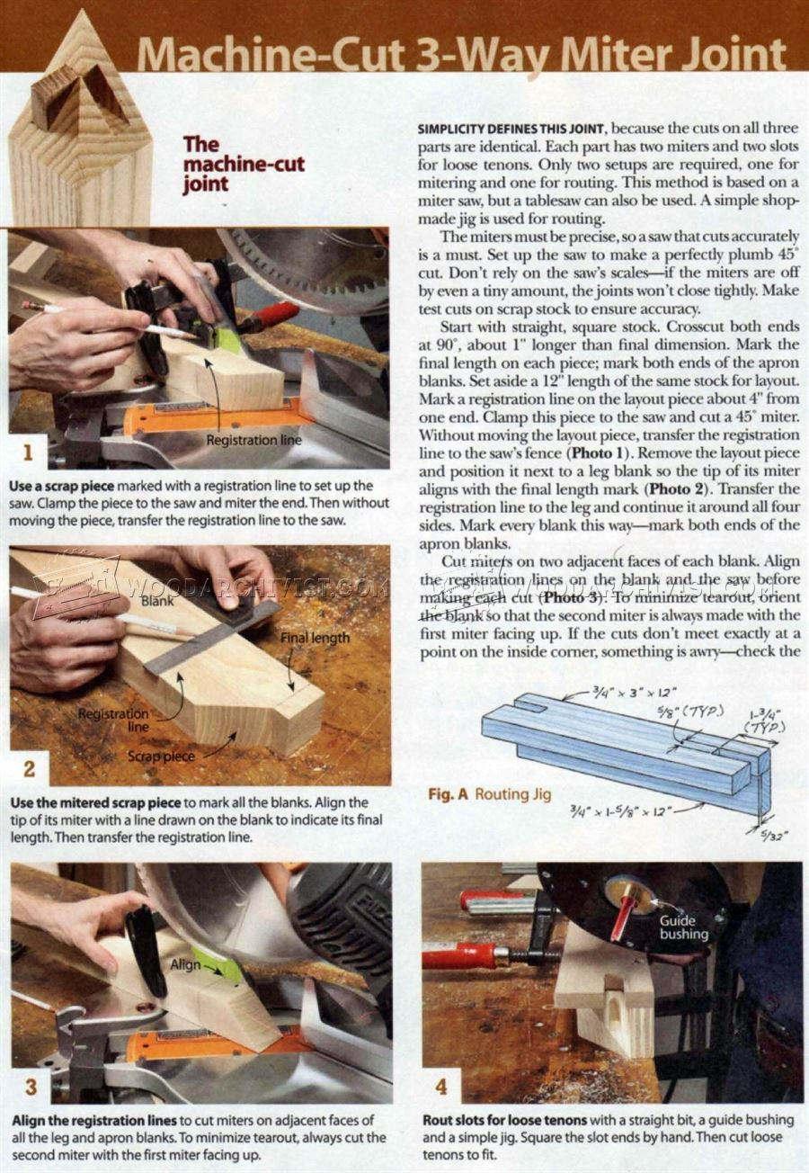 Three-Way Miter Joint