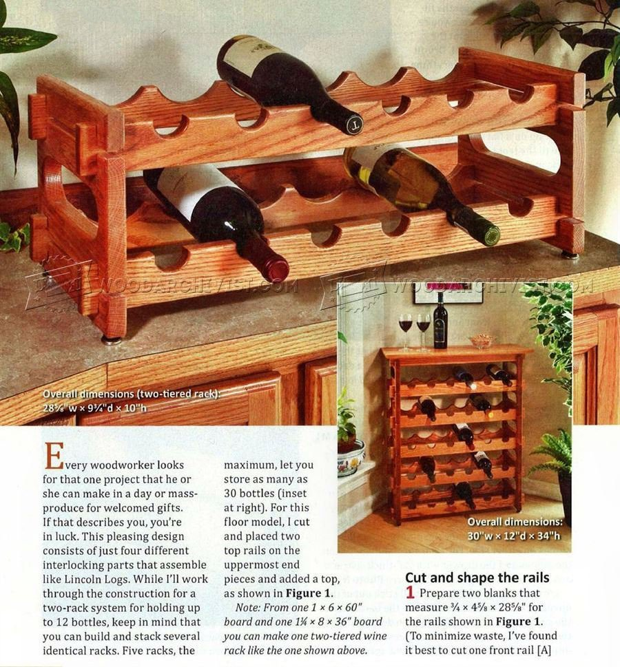 Stacking Wine Rack Plans