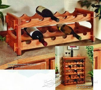 3518-Stacking Wine Rack Plans