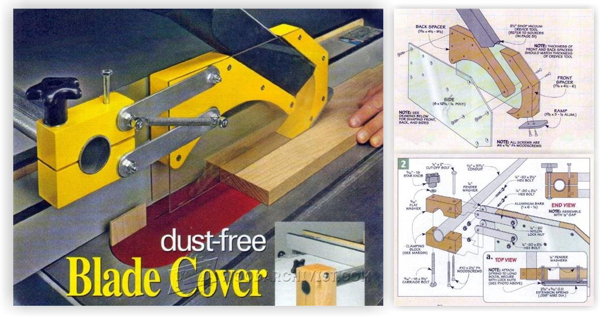 Table Saw Dust Collection Guard Woodarchivist