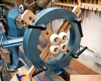 3522-Wood Lathe Steady Rest Plans
