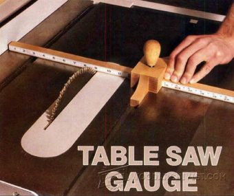 3523-DIY Table Saw Gauge
