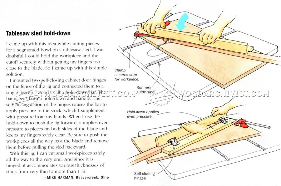 Table Saw Sled Hold Down
