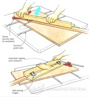 3526-Table Saw Sled Hold Down