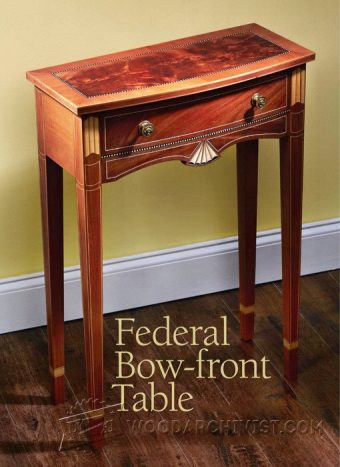 3527-Bow Front Table Plans