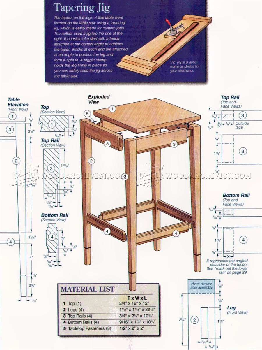 Side Table Plans