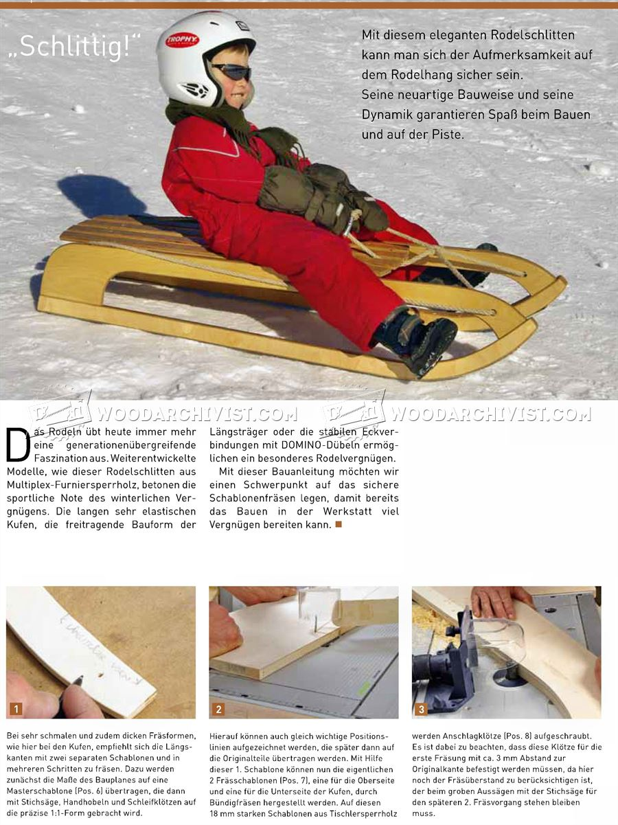 Wooden Sleigh Plans