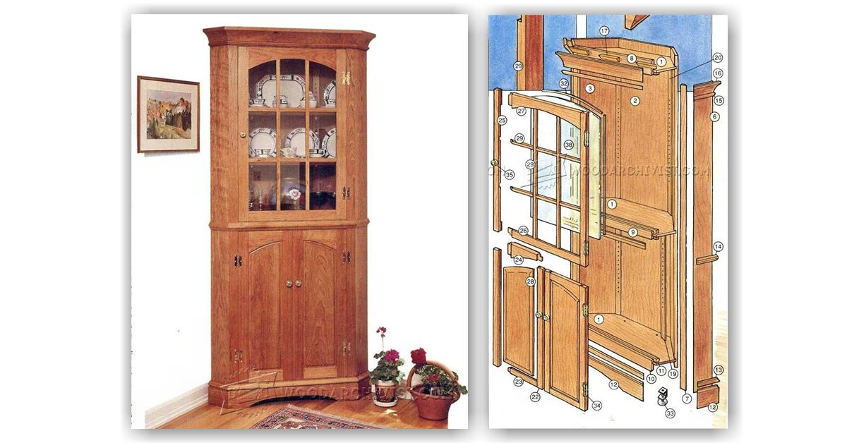 Corner Cupboard Plans • WoodArchivist