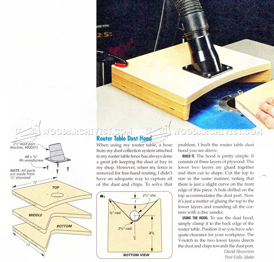 Router Table Dust Hood