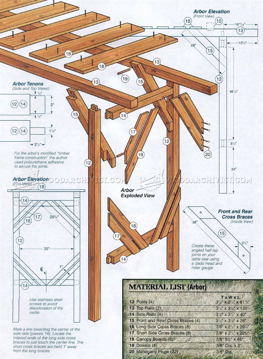 Outdoor Arbor Swing Plans