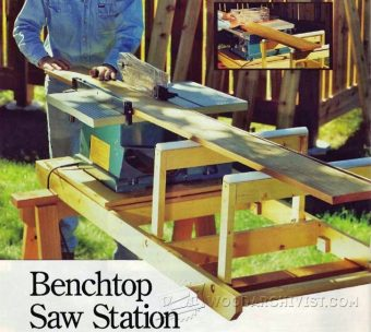3552-Benchtop Table Saw Station Plans