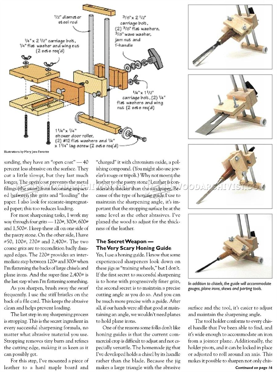 Chisel and Plane Iron Sharpening Jig Plans