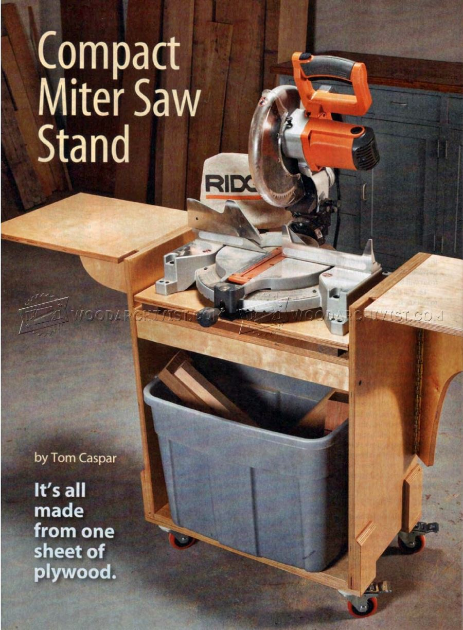 DIY Mobile Miter Saw Stand • WoodArchivist