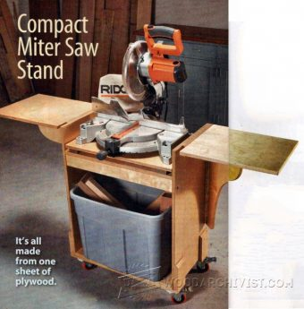 3561-DIY Mobile Miter Saw Stand