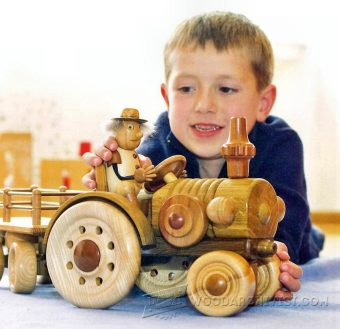 3562-Wooden Toy Tractor  Plans