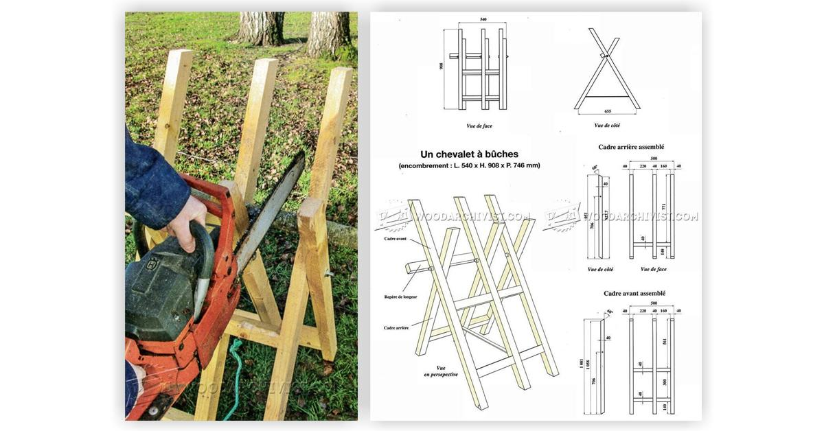 DIY Log Saw Horse • WoodArchivist