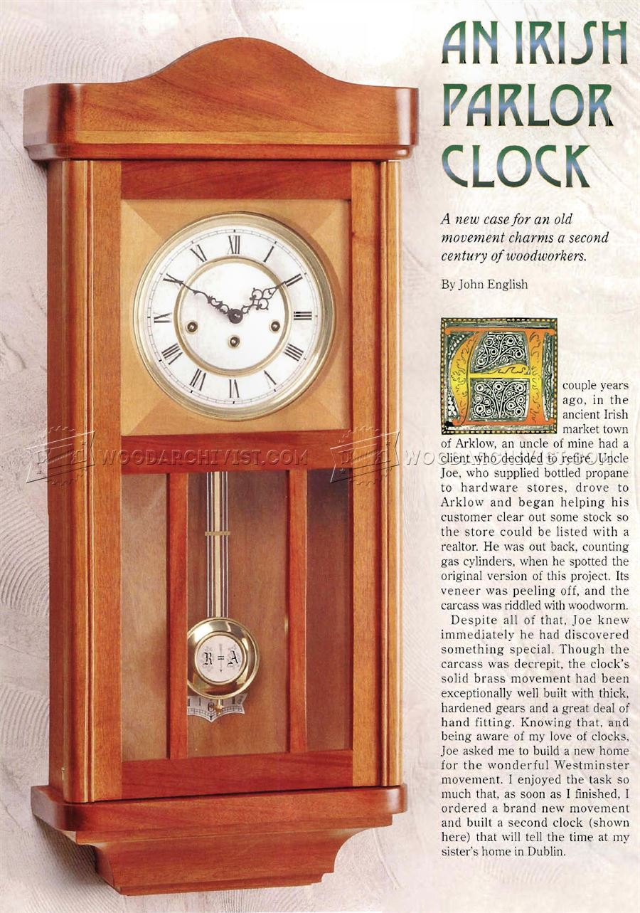 Wall Clock Plans Woodworking Andybrauer Com