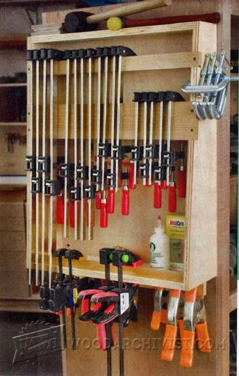 3568-Small Clamp Storage Rack