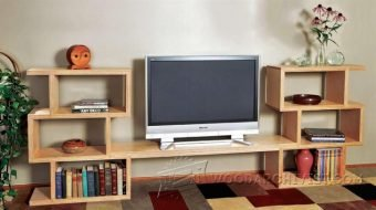 3569-Modular TV Entertainment Center Plans