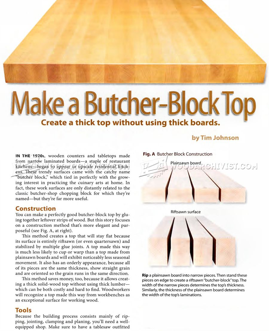 DIY Butchers Block Top