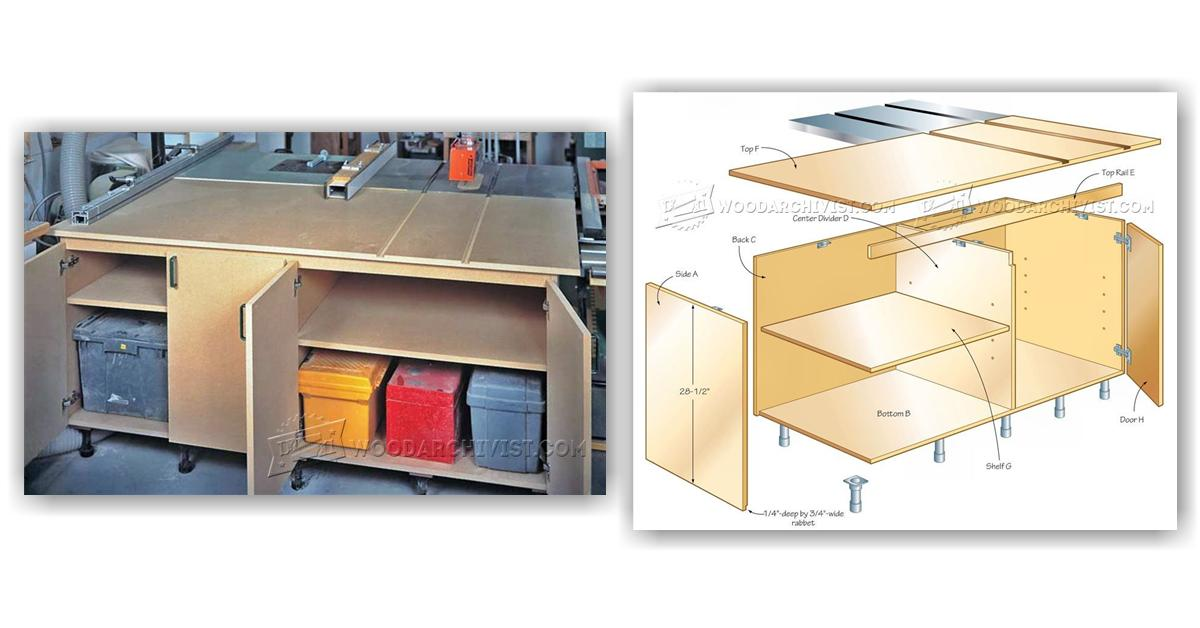 Diy Table Saw Outfeed Table Woodarchivist