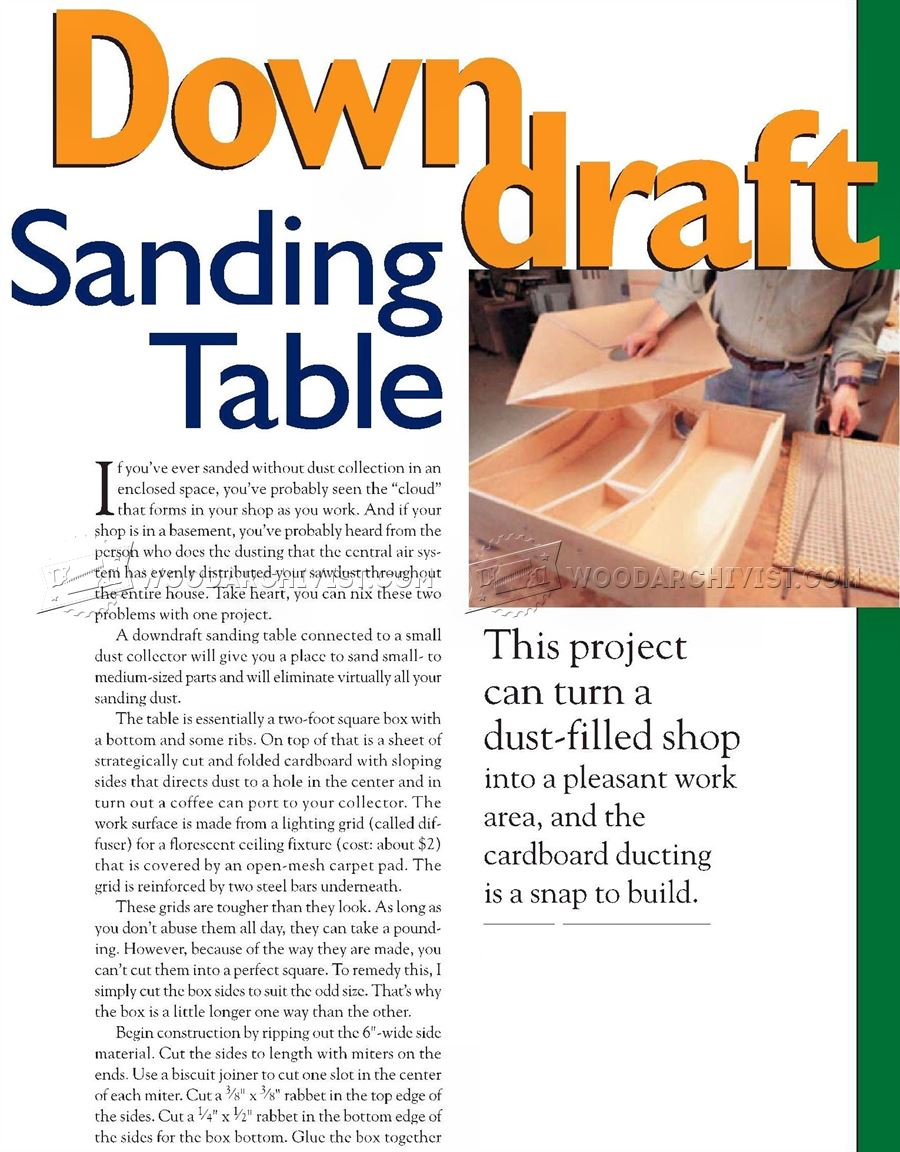 DIY Downdraft Sanding Table