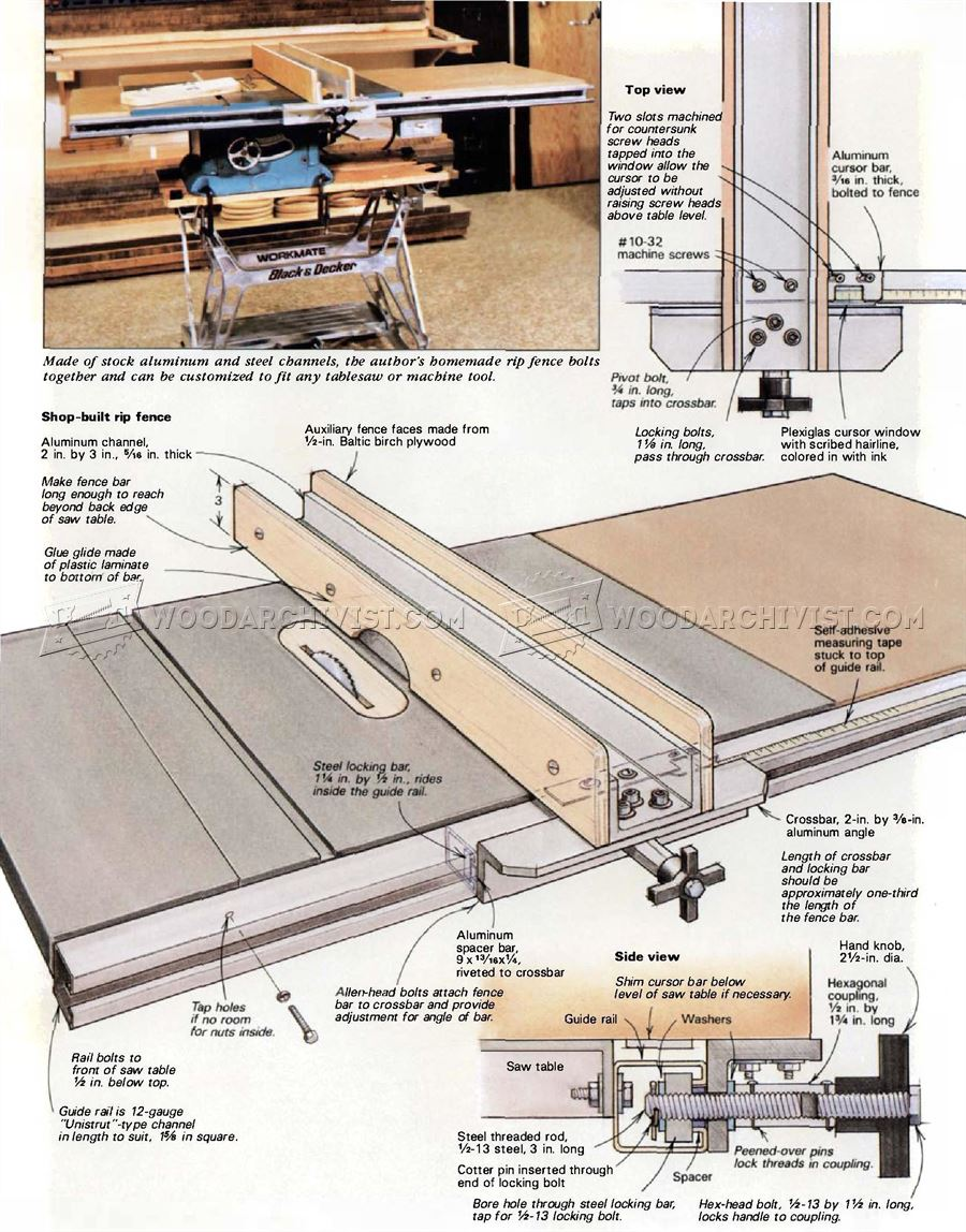 Diy Table Saw Fence Woodarchivist