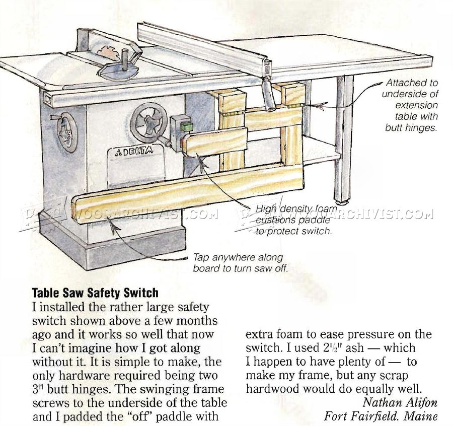 Table Saw Safety Switch