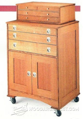 3597-Rolling Tool Cabinet Plans