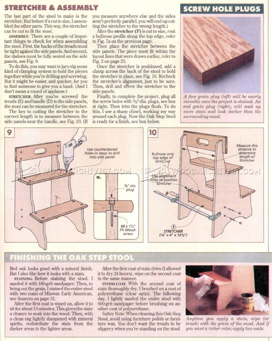 Step Stool Plans Woodarchivist