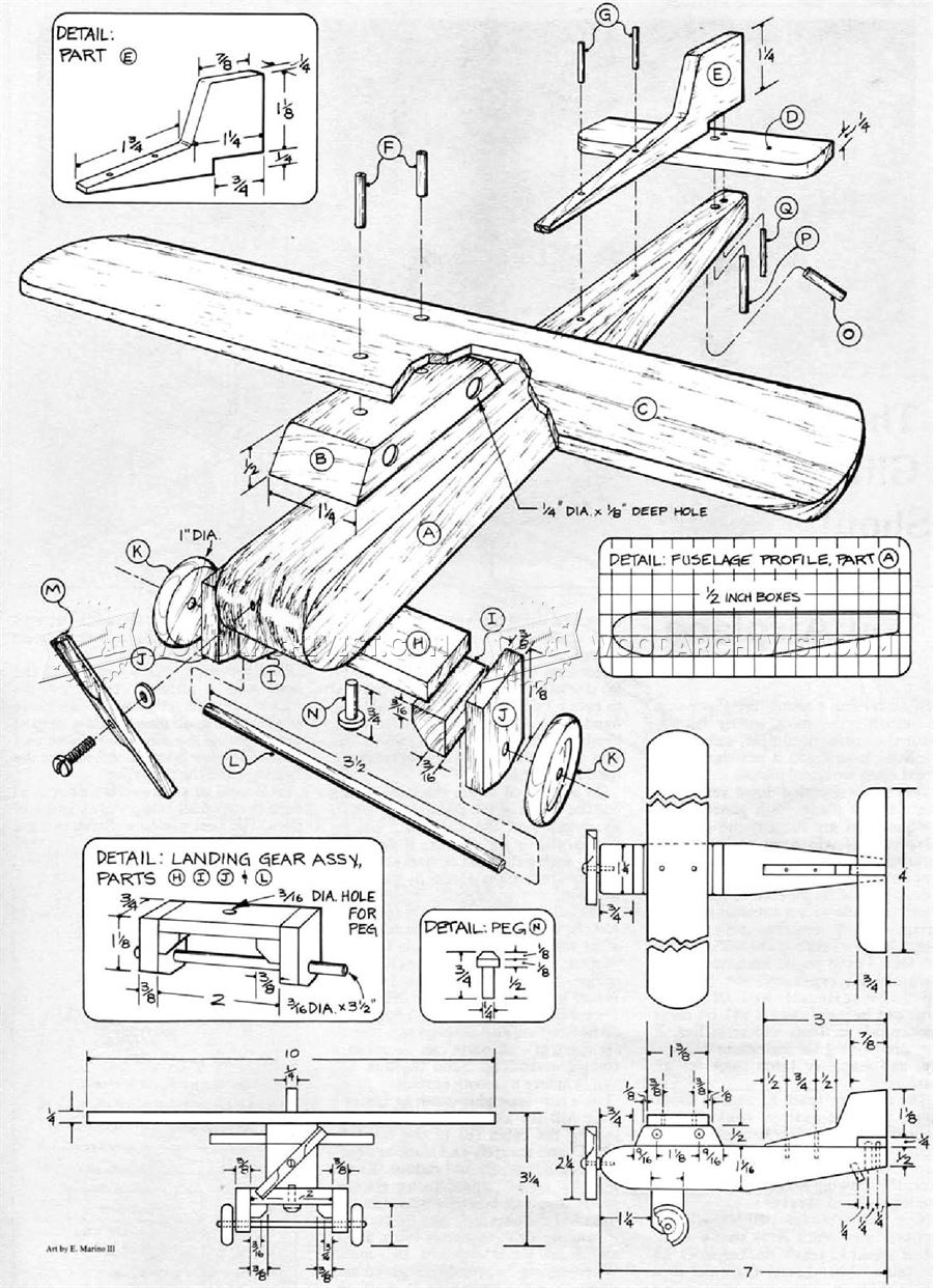 Wooden Airplane Plans Woodarchivist