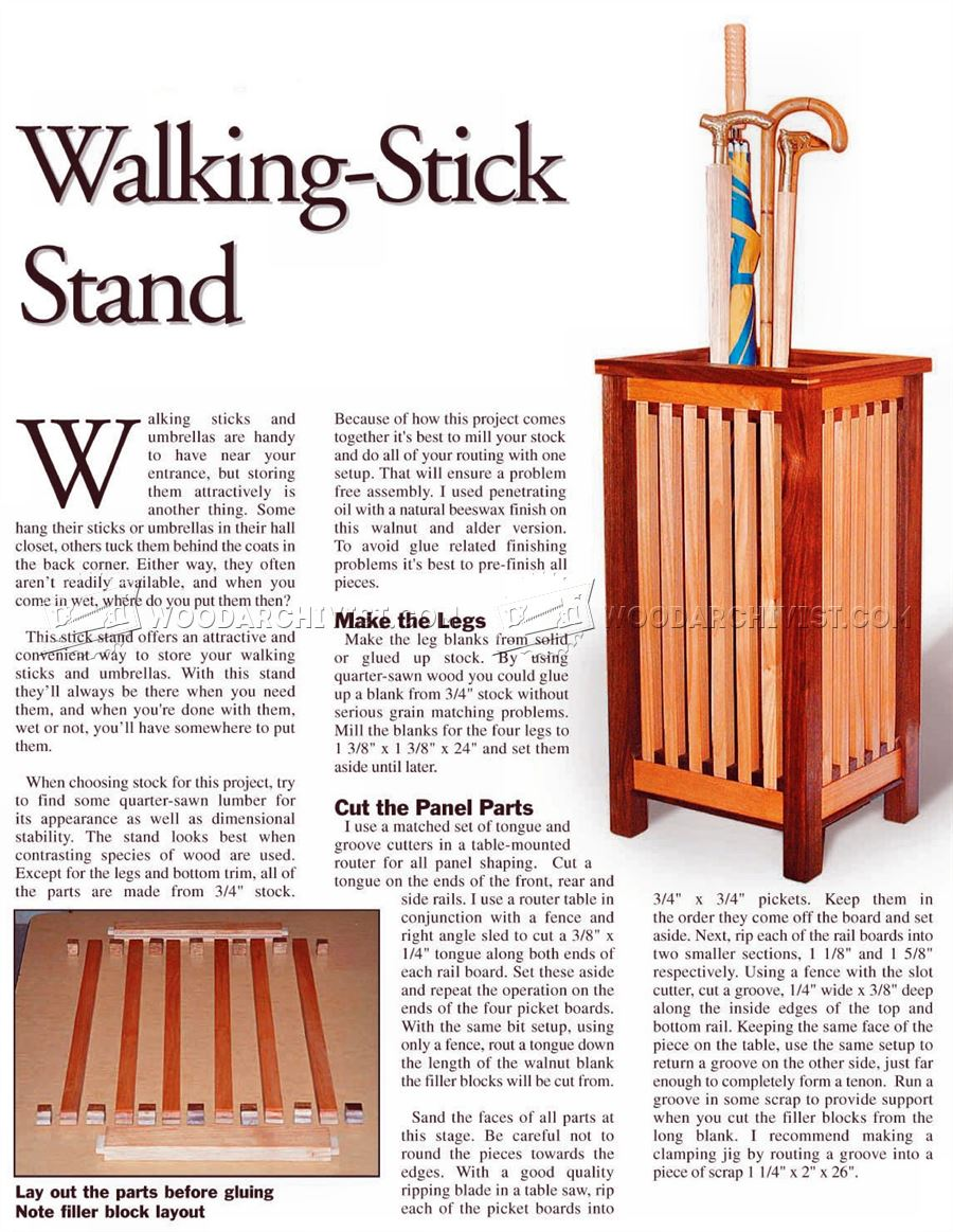 Walking Stick Stand Plans