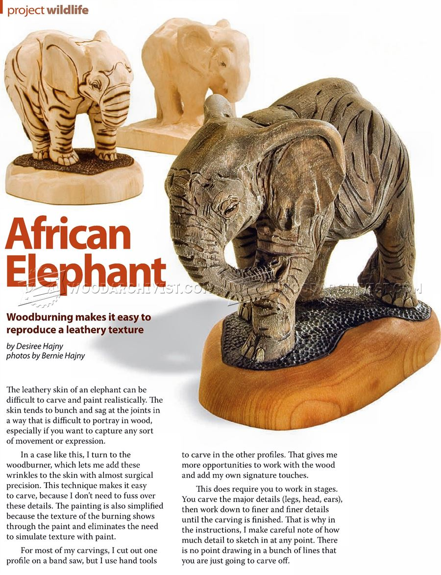 African Elephant Carving