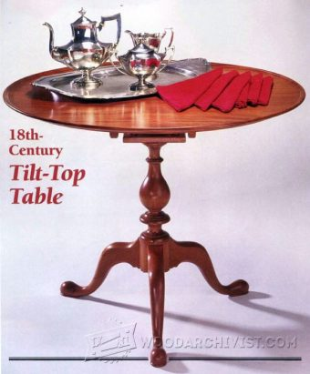 3602-Tilt Top Table Plans