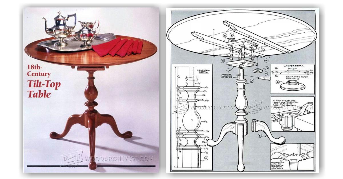Tilt Top Table Plans Woodarchivist