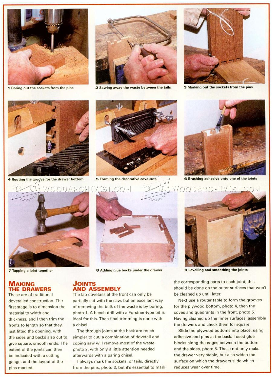 how to build a sewing cabinet