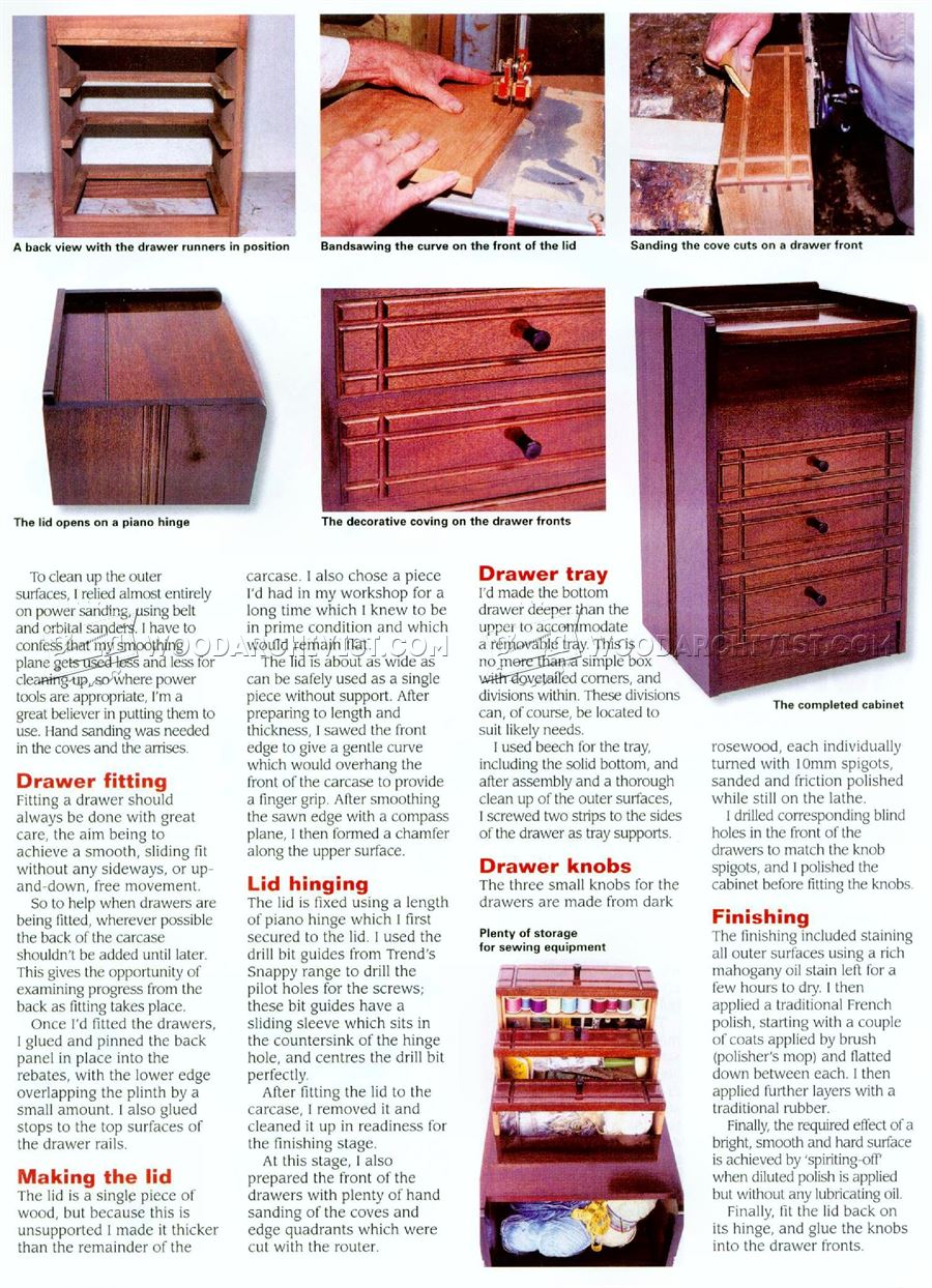 Sewing Cabinet Plans