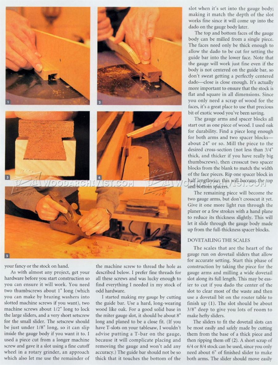 Table Saw Tenoning Jig Plans