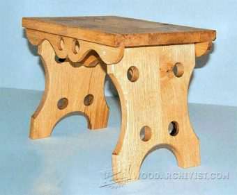 3617-Oak Footstool Plans