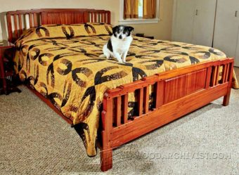 3618-Arts and Crafts Bed Plans
