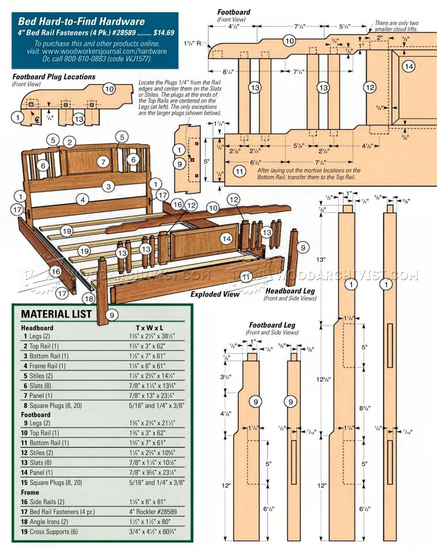 Arts and Crafts Bed Plans